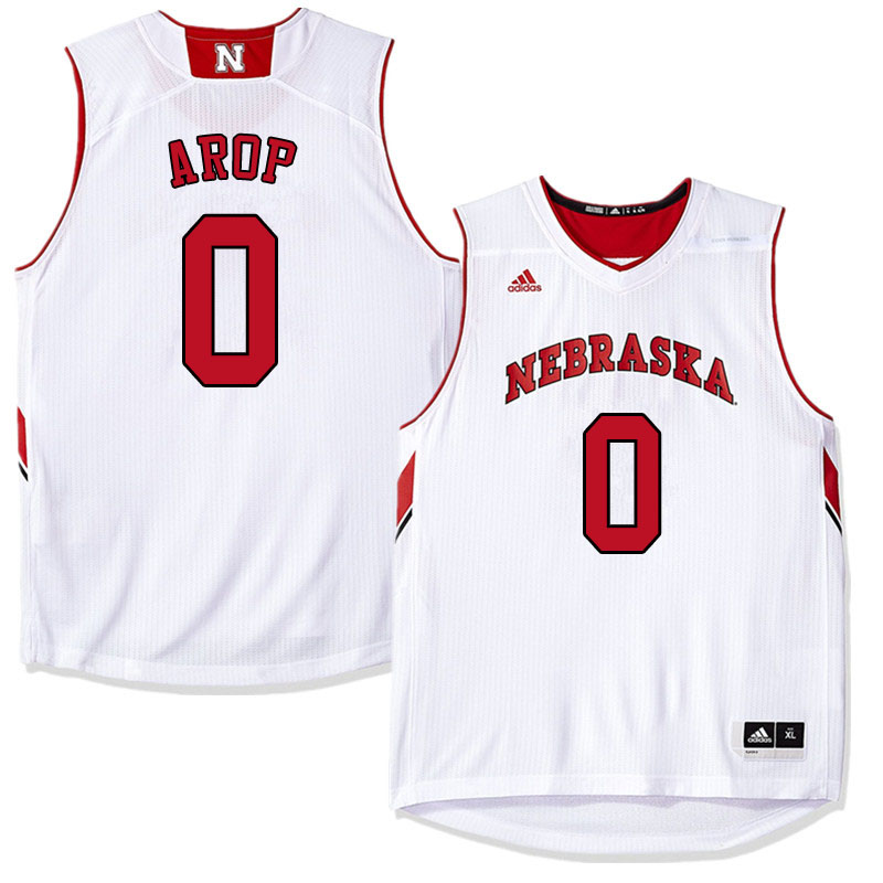 Men #0 Akol Arop Nebraska Cornhuskers College Basketball Jerseys Sale-White