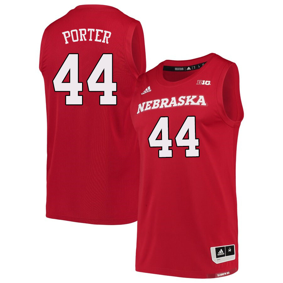 Men #44 Bret Porter Nebraska Cornhuskers College Basketball Jerseys Sale-Scarlet
