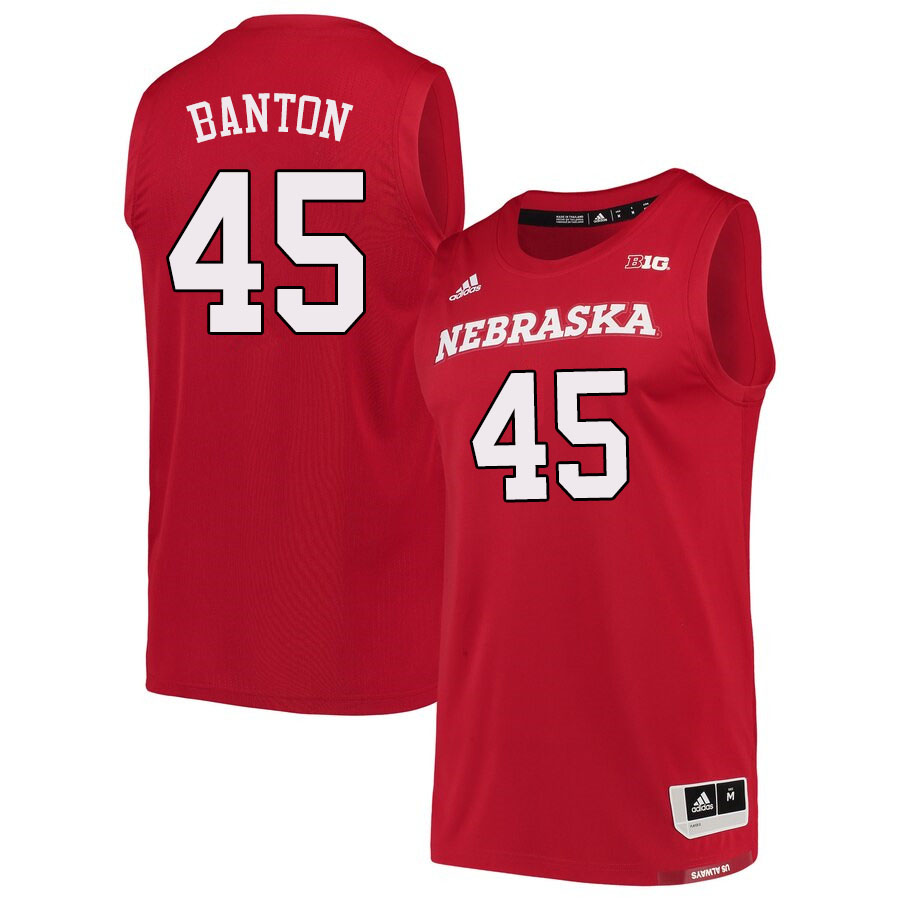 Men #45 Dalano Banton Nebraska Cornhuskers College Basketball Jerseys Sale-Scarlet