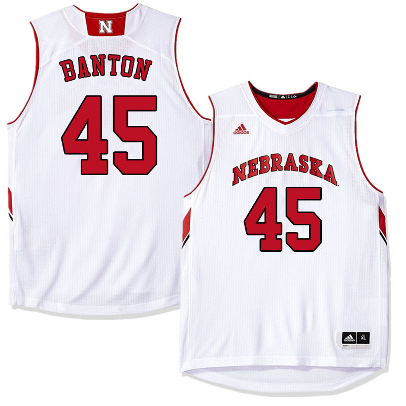 Men #45 Dalano Banton Nebraska Cornhuskers College Basketball Jerseys Sale-White