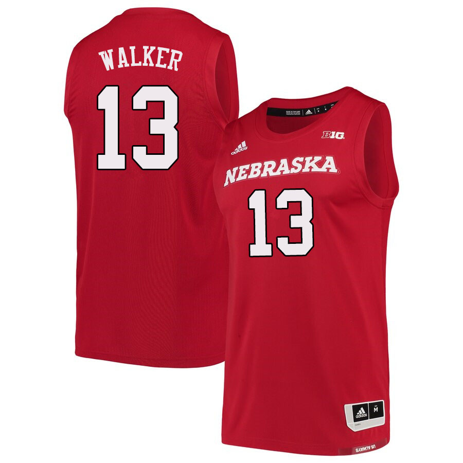 Men #13 Derrick Walker Nebraska Cornhuskers College Basketball Jerseys Sale-Scarlet