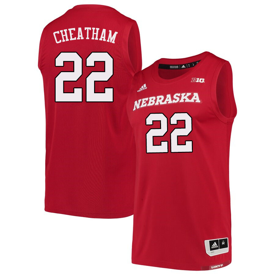 Men #22 Haanif Cheatham Nebraska Cornhuskers College Basketball Jerseys Sale-Scarlet
