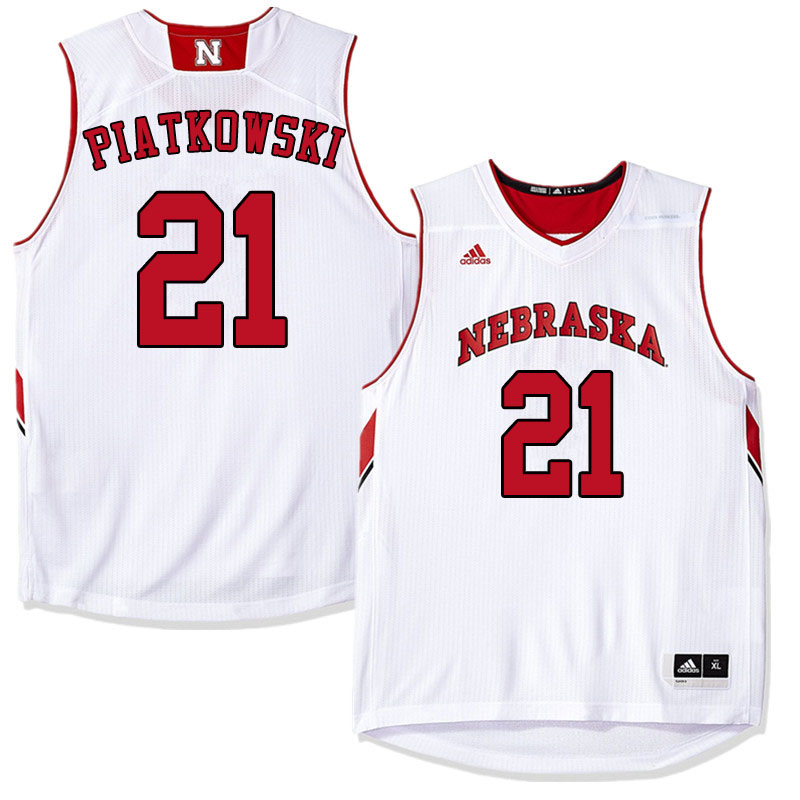 Men #21 Jace Piatkowski Nebraska Cornhuskers College Basketball Jerseys Sale-White