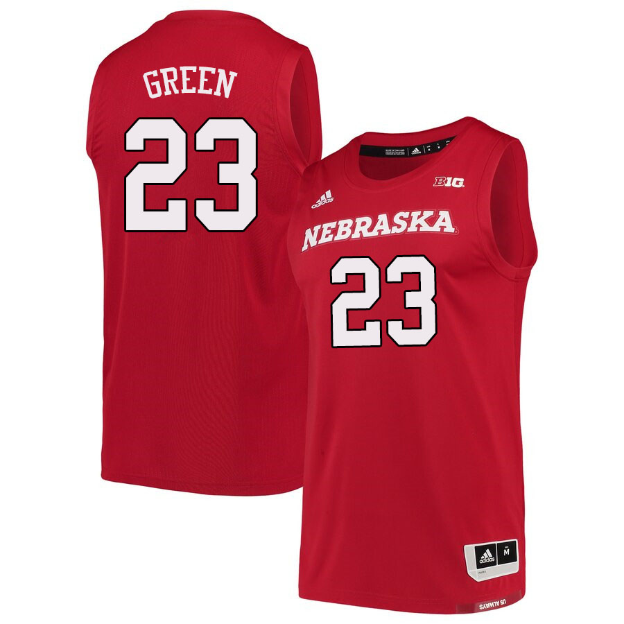 Men #23 Jervay Green Nebraska Cornhuskers College Basketball Jerseys Sale-Scarlet