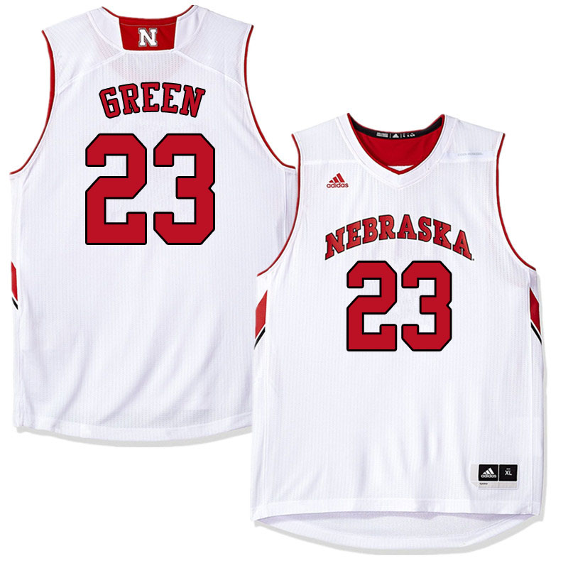 Men #23 Jervay Green Nebraska Cornhuskers College Basketball Jerseys Sale-White
