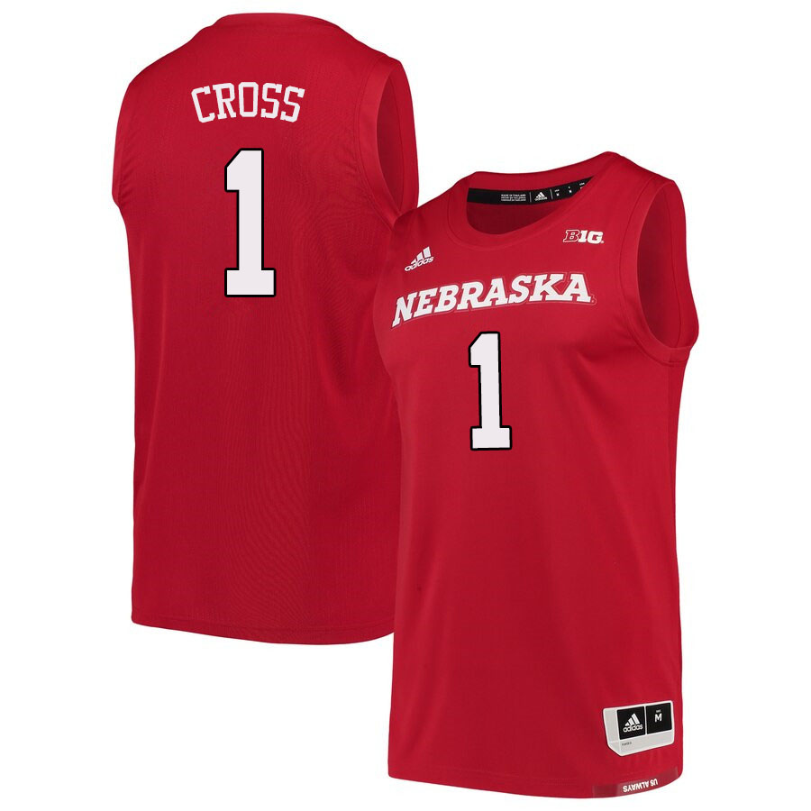 Men #1 Kevin Cross Nebraska Cornhuskers College Basketball Jerseys Sale-Scarlet
