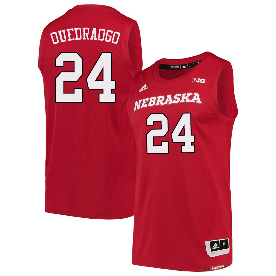 Men #24 Yvan Ouedraogo Nebraska Cornhuskers College Basketball Jerseys Sale-Scarlet