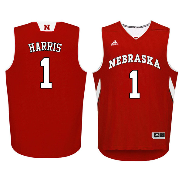 Men Nebraska Cornhuskers #1 Amir Harris College Basketball Jerseys Sale-Red