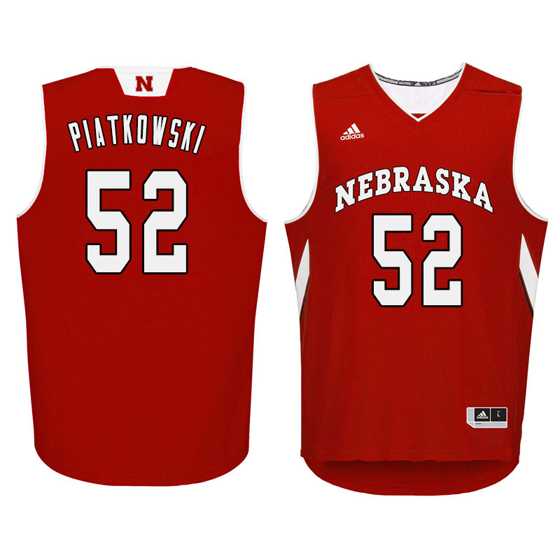 Men Nebraska Cornhuskers #52 Eric Piatkowski College Basketball Jersyes Sale-Red