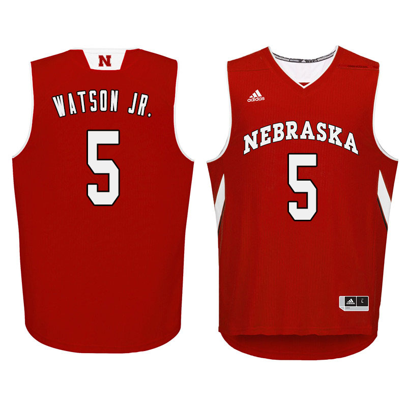 Men Nebraska Cornhuskers #5 Glynn Watson Jr. College Basketball Jersyes Sale-Red