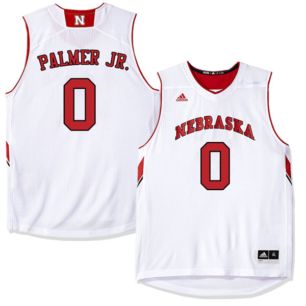Men Nebraska Cornhuskers #0 James Palmer Jr. College Basketball Jerseys Sale-White