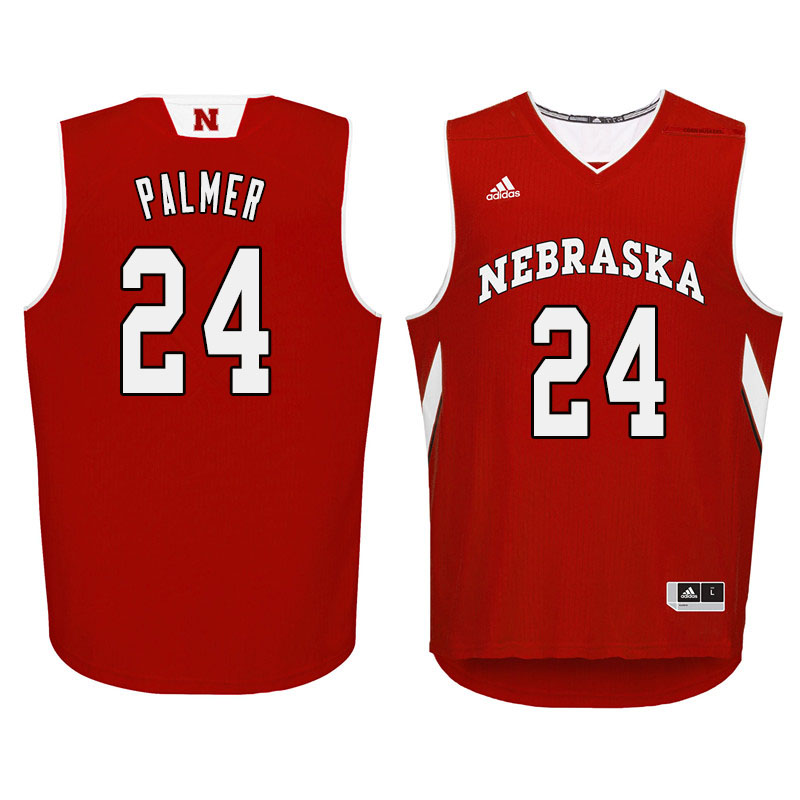 Men Nebraska Cornhuskers #24 James Palmer College Basketball Jersyes Sale-Red