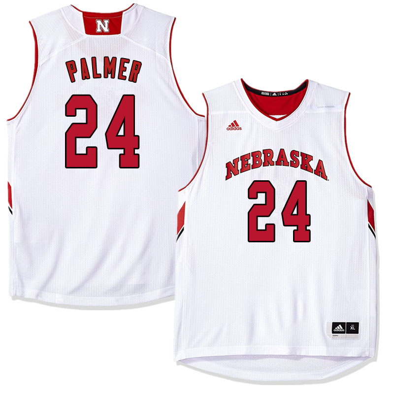 Men Nebraska Cornhuskers #24 James Palmer College Basketball Jersyes Sale-White