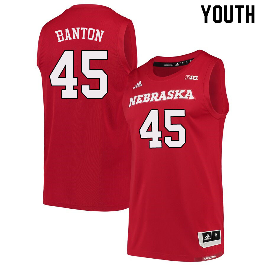 Youth #45 Dalano Banton Nebraska Cornhuskers College Basketball Jerseys Sale-Scarlet