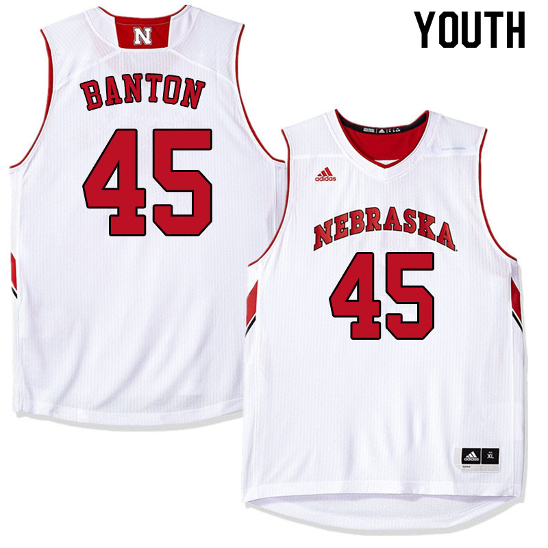 Youth #45 Dalano Banton Nebraska Cornhuskers College Basketball Jerseys Sale-White