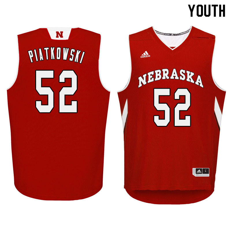 Youth Nebraska Cornhuskers #52 Eric Piatkowski College Basketball Jersyes Sale-Red