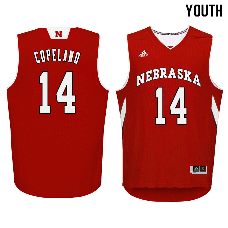 Youth Nebraska Cornhuskers #14 Isaac Copeland College Basketball Jersyes Sale-Red