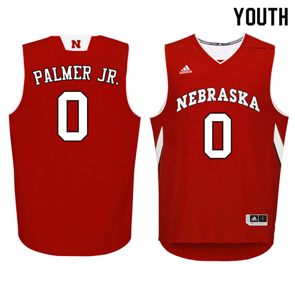 Youth Nebraska Cornhuskers #0 James Palmer Jr. College Basketball Jerseys Sale-Red